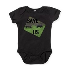 Save the Rhinos Baby Bodysuit