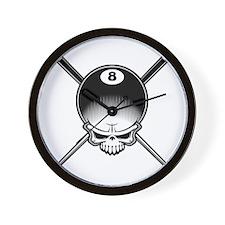 Pool Pirate II Wall Clock