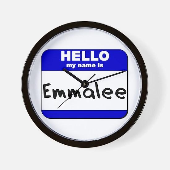 hello my name is emmalee  Wall Clock
