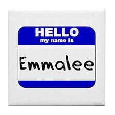 hello my name is emmalee  Tile Coaster