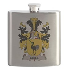 Grill Family Crest Flask