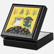 Trendy Owls Keepsake Box