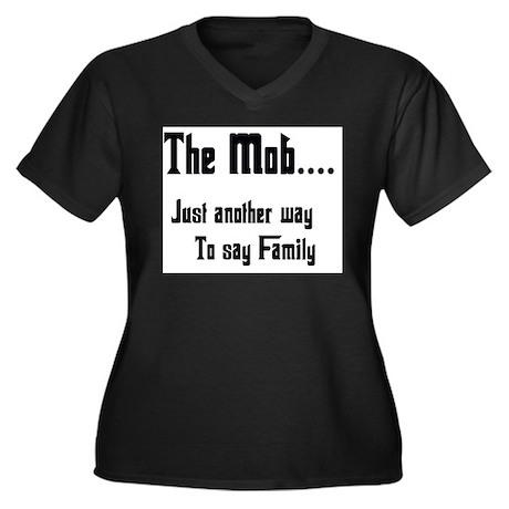 The Mob Women's Plus Size V-Neck Dark T-Shirt