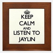 Keep Calm and listen to Jaylin Framed Tile