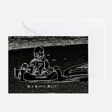 Kid Karts Rock Greeting Card