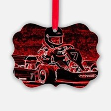 Kid Karts are RED Hot! Ornament