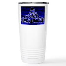 Kart Racer in Blue Travel Mug