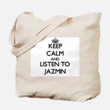 Keep Calm and listen to Jazmin Tote Bag