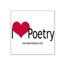 I heart poetry Rectangle Sticker