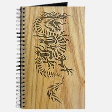Tribal Dragon on Wood Journal