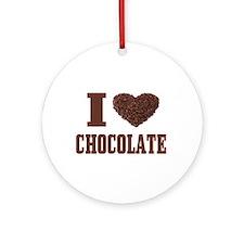 I Love Chocolate Ornament (Round)