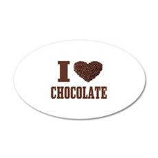 I Love Chocolate Wall Decal