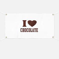 I Love Chocolate Banner