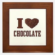 I Love Chocolate Framed Tile