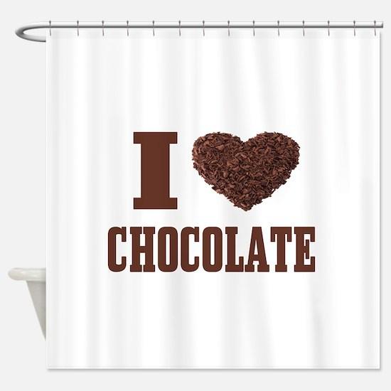 I Love Chocolate Shower Curtain