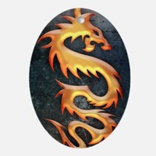 Golden Dragon Oval Ornament