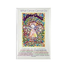 Spring Hearts Cancer Angel Rectangle Magnet