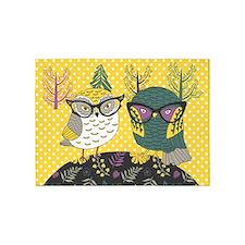 Trendy Owls 5'X7'area Rug