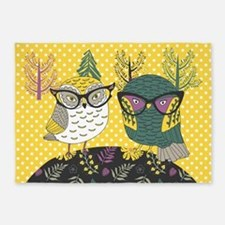 Trendy Owls 5'X7'area Rug