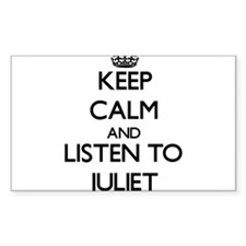 Keep Calm and listen to Juliet Decal