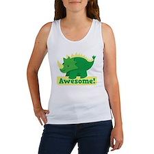 Green Dinosaur AWESOME cute! Women's Tank Top
