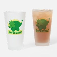 Green Dinosaur AWESOME cute! Drinking Glass
