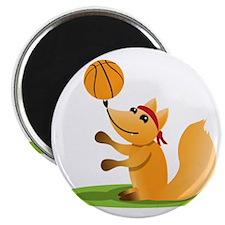 Basketball playing fox Magnet
