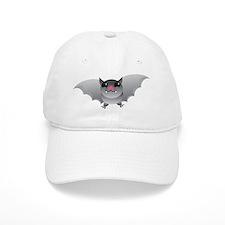 Cute grey batty BAT Baseball Cap