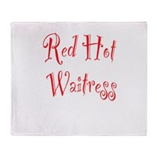 Red Hot Waitress Throw Blanket