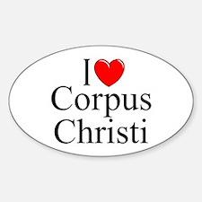 """I Love Corpus Christi"" Oval Decal"