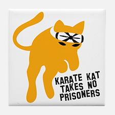 KARATE KAT takes no prisoners Tile Coaster