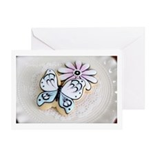 Butterfly Cookies Greeting Cards