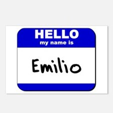 hello my name is emilio  Postcards (Package of 8)