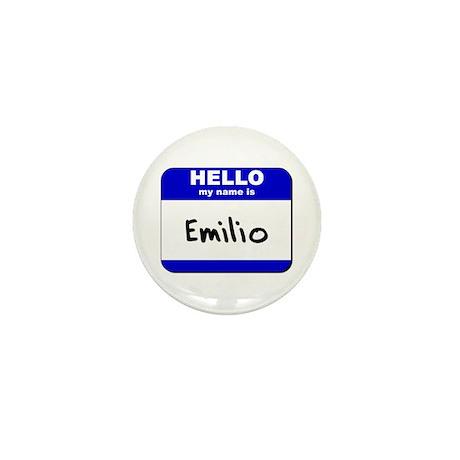 hello my name is emilio Mini Button