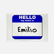 hello my name is emilio Rectangle Magnet
