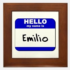 hello my name is emilio  Framed Tile