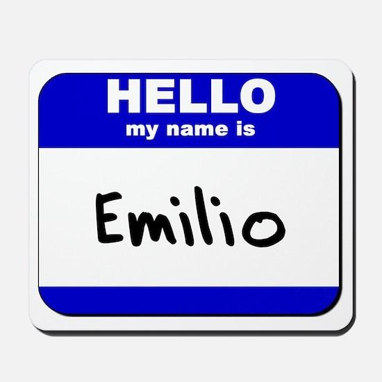 hello my name is emilio  Mousepad