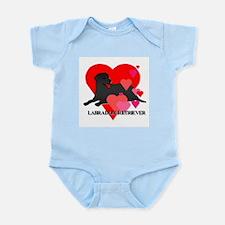 Black Labrador Retriever Infant Bodysuit
