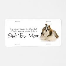 Shih Tzu Mom Aluminum License Plate