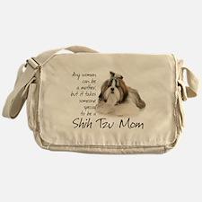 Shih Tzu Mom Messenger Bag