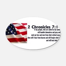 Unique Bible verse Oval Car Magnet