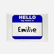 hello my name is emilie Rectangle Magnet