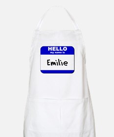 hello my name is emilie  BBQ Apron