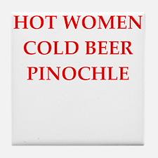 pinochle Tile Coaster