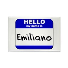 hello my name is emiliano Rectangle Magnet