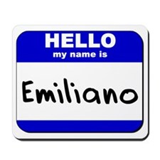 hello my name is emiliano  Mousepad