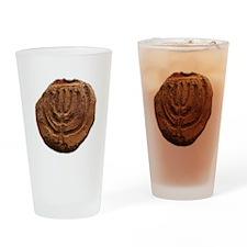Ancient Menorah Drinking Glass