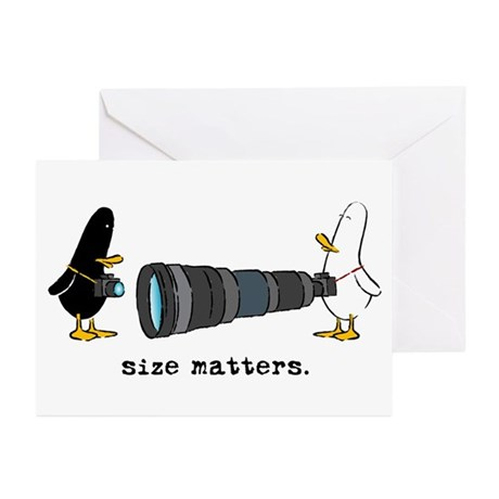 WTD: Size Matters Greeting Cards (Pk of 10)