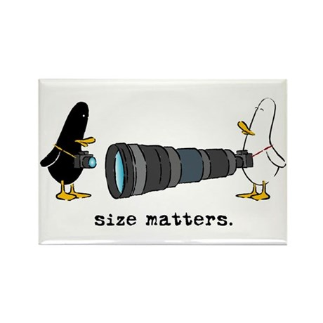 WTD: Size Matters Rectangle Magnet