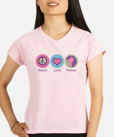 Peace Love Ponies Performance Dry T-Shirt